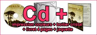 Duplication Cd couleurs dans boitier cristal