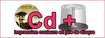 Duplication de 200 Cd couleurs en pile de disque