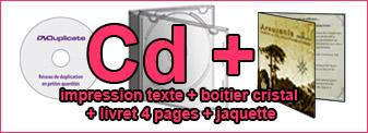 Duplication Cd mono-couleur dans boitier jewel case avec livret couleurs