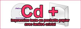 Duplication Cd mono-couleur dans pochette