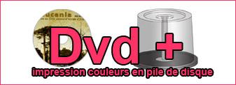 Duplication Dvd couleurs en pile de disque