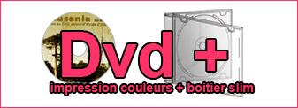 Duplication de Dvd couleurs dans boitier Cd slim