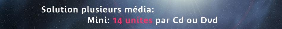 Duplication Cd Dvd solution plusieurs média à partir de 14 unites