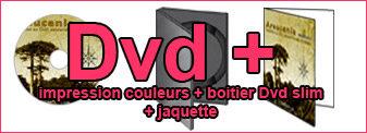 Duplication Dvd jaquette couleurs boitier dvd slimn couleurs insertion dans boitier Dvd slim noir, impression couleurs de la jaquette