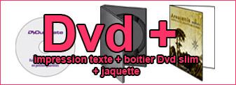 Duplication de 200 Dvd mono-couleur dans boitier Dvd slim